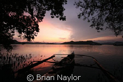 sunset on Caron by Brian Naylor 